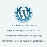 Two years on WordPress!
