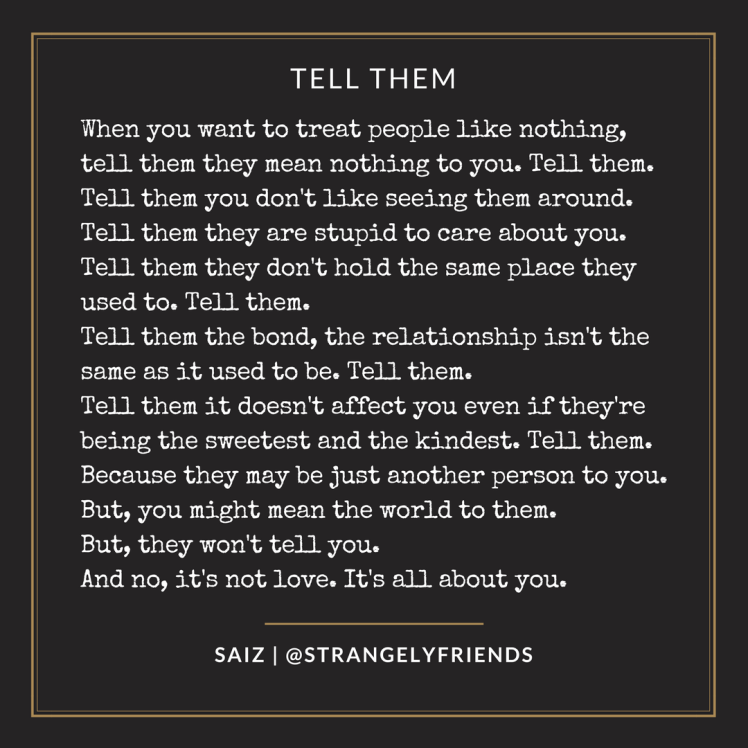 Tell them not to care!